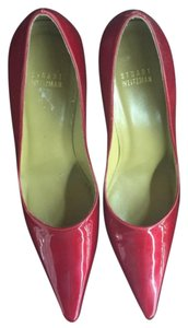 Stuart Weitzman Pointed Toe High Heel Red Pumps