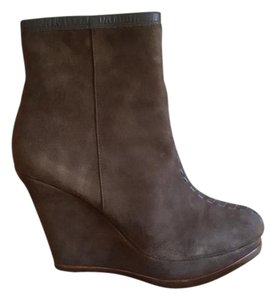 Isola Modern Style Wedge Suede TAUPE Boots