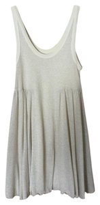 Free People short dress Cream / Gold Sparkle Fp Beach on Tradesy