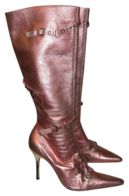 Steve Madden Pink Metallic Rock and Roll Princess Boots/Booties Size US 6.5 Regular (M, B) Steve Madden Pink Metallic Rock and Roll Princess Boots/Booties Size US 6.5 Regular (M, B) Image 1