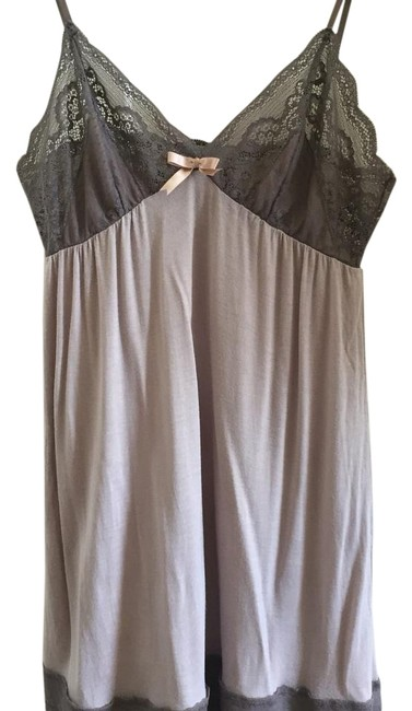 Item - Grey Gray Anouk Grey/Gray Lace Chemise with Bow Size Small