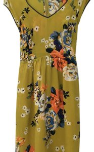 Anthropologie Floral Bow Dress