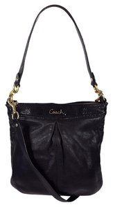 Coach Leather Croc Python Snakeskin Tote in Black