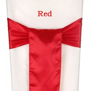 100 Brand New Red Satin Chair Sashes