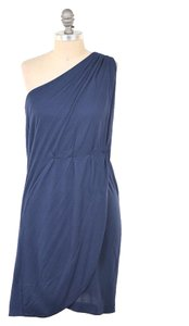 Marc by Marc Jacobs short dress Navy One Shoulder Bamboo Grecian on Tradesy