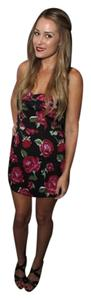 BCBGeneration Floral Sweetheart Polyester Dress