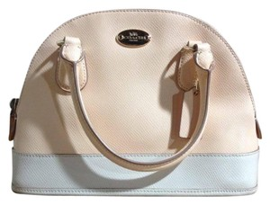 Coach Satchel Leather Cross Body Bag