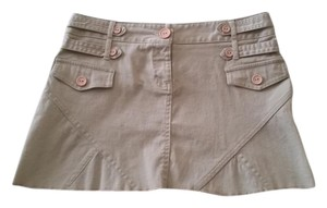 Papaya Mini Skirt Khaki