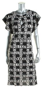 Tory Burch short dress Black/Ivory Crescent Print Silk on Tradesy