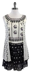 Anna Sui short dress Ivory Floral Layered Silk on Tradesy