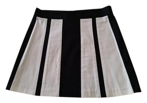 Ruthie Davis Mini Skirt Black and white
