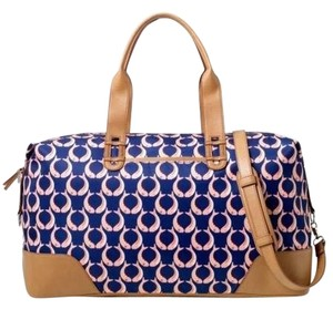 Stella & Dot & Tote Carryall Carry-on Gift marine blue / blush Travel Bag