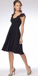 Wtoo Black Chiffon 916 Bridesmaid/Mob Dress Size 10 (M)