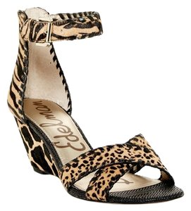 Sam Edelman Want Animal Print Wedge Wedges