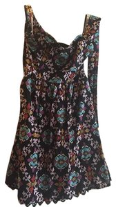 Anthropologie short dress Black Multi on Tradesy