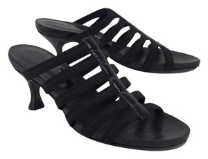 Donald J. Pliner Black Strappy Heels Sandals