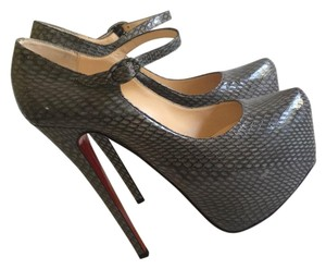 Christian Louboutin Grey Platforms