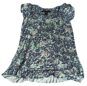 Marc by Marc Jacobs T Shirt Blue/Green Floral