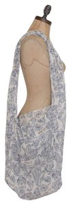 Free People Gauze Printed Tote in IVORY / BUE