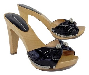 Marc by Marc Jacobs Black Patent Leather Heels Sandals
