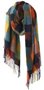 Aksent Boutique Multi Color Plaid Blanket Scarf