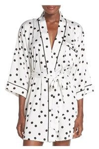 Kate Spade Top white with black polka dots &pink detail