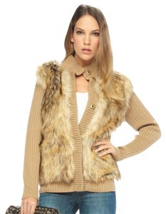 Michael Kors Wool Polyester Modacrylic Brown and Tan Jacket