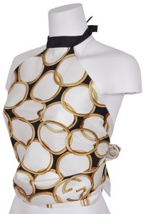 Gucci Scarf White Halter Top