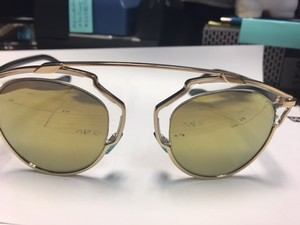 Dior Christian Dior Dior SoReal Gold Crystal Black/Gold Mirror U5SK1