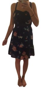 American Eagle Outfitters short dress Navy Floral Buttons on Tradesy