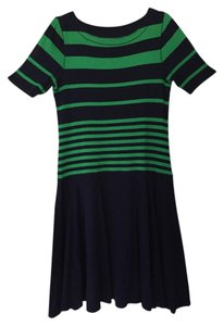 Ralph Lauren short dress Green and Navy Preppy Summer Striped on Tradesy