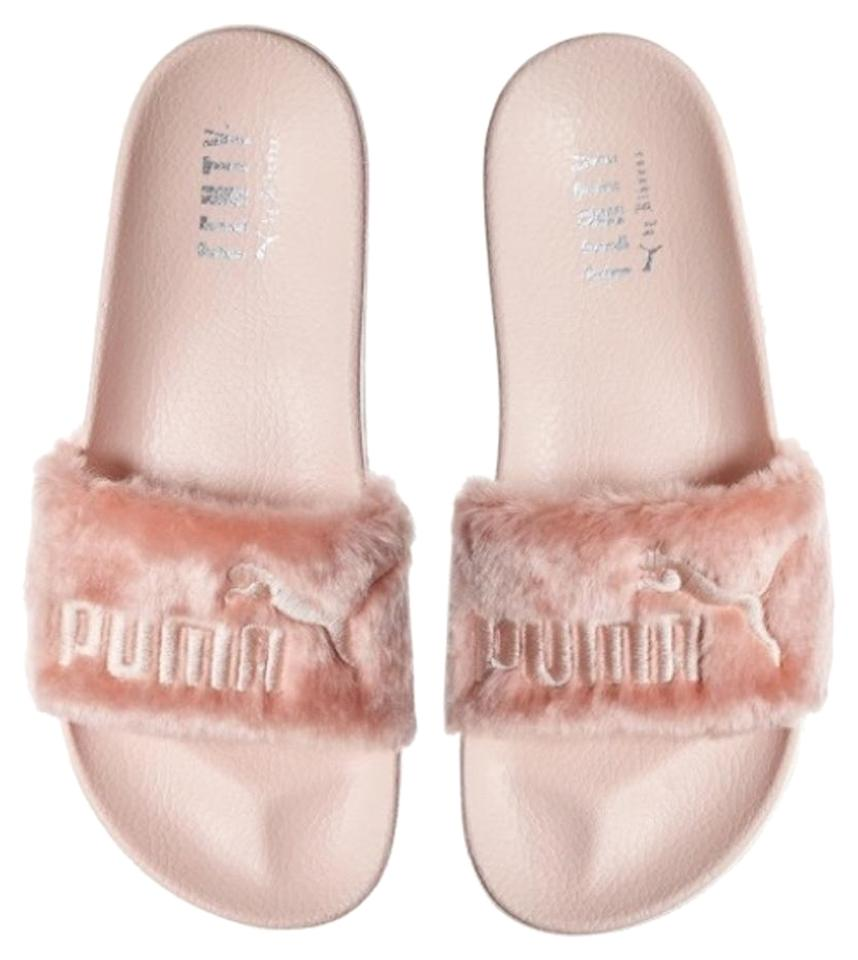 separation shoes e51c9 ae909 Puma Pink Fenty Leadcat Faux Fur Slide Sandals Size US 7.5 Regular (M, B)