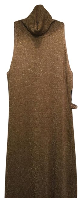Item - Vntg Gold New Golden Color Long Night Out Dress Size 4 (S)