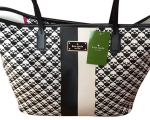 Kate Spade Tote in Black White Pink
