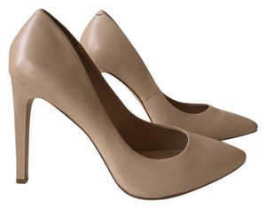 BCBGeneration Leather Comfortable Stiletto Nude Pumps