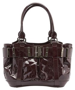 Burberry Beaton Quilted Tote in Burgundy