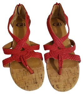 Gianni Bini Sandal Slight Heel Cork Coral Sandals