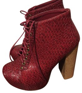 ShoeDazzle Red Platforms