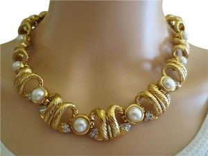 Nina Ricci Rare Runway Signed Jeweled Mogul Runway Necklace