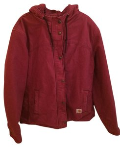 Carhartt Lined Hooded Winter Merlot Jacket