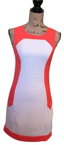 Akira short dress White/Orange White Orange Pencil on Tradesy