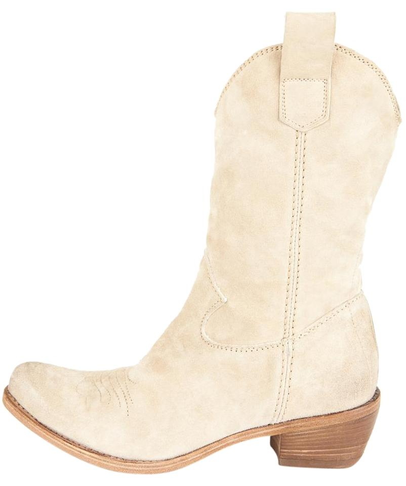 Alberto Fermani Tan Light Suede Pointed Boots/Booties Toe Mid Calf Cowboy Boots/Booties Pointed 13f895
