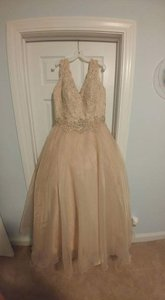 Brand New Champagne Ball Gown Wedding Dress