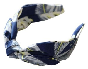 Anthropologie New Anthropologie Gabrielle Turban Headband Fabric Wrap blue Floral