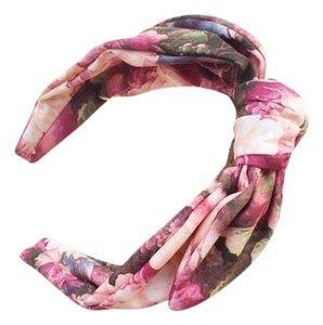 Anthropologie New Anthropologie Gabrielle Turban Headband Fabric Wrap Pink/Coral