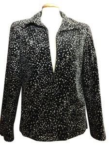 Dana Buchman Pattern Black and Whte Jacket