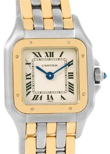 Cartier Cartier Panthere Steel 18K Yellow Gold 3 Row Watch W25029B6 Box Papers