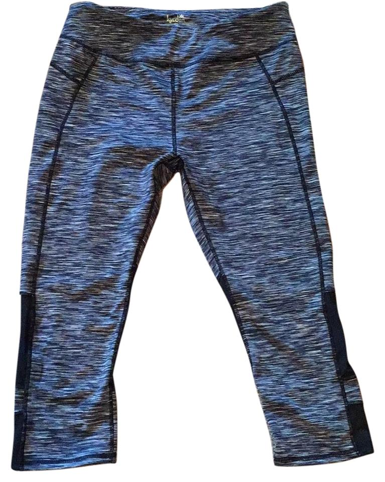 def29fff10 Kyodan Black and White Athletic Cropped Yoga Activewear Bottoms Size ...