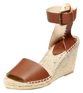 Soludos Leather tan Wedges