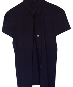 Theory Button Down Shirt Dark purple/navy